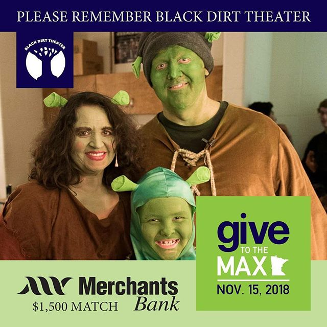 Donate through this Thursday for #givetothemaxday ! We can't wait to be able to bring more families to our summer musical! Visit blackdirttheater.com for more info!