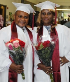 Clement and Aline graduate from RI College's School of Social Work
