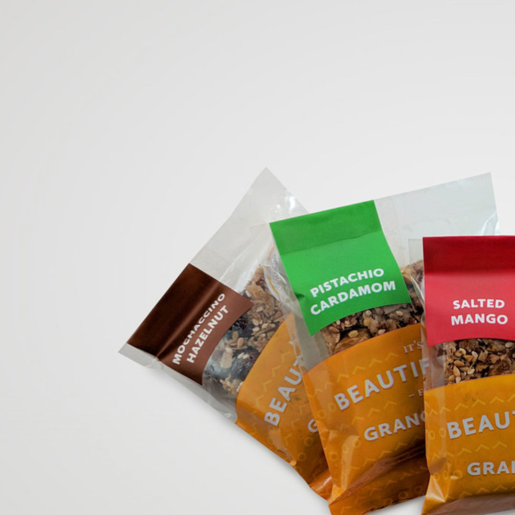 Beautiful Day Gift Box:   Choose a bar flavor from five flavors or a mix of flavors. This box comes in six, twelve, or twenty-four pack options.