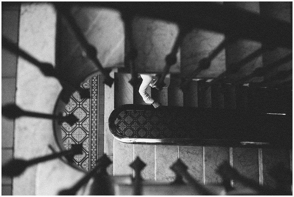 stairs-blackandwhite-weddingday