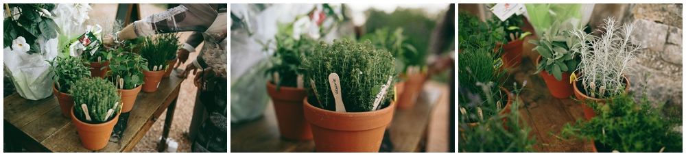 diy-wedding-french-plants-pots-lavender-thym