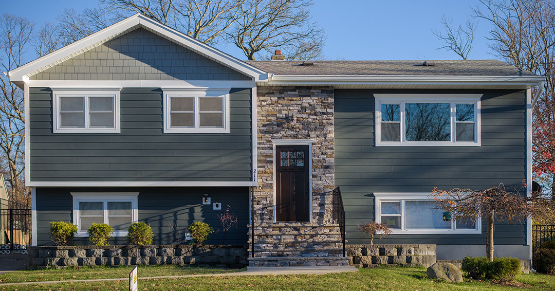 New Siding, Stone & Window Design in Westfield, New Jersey.