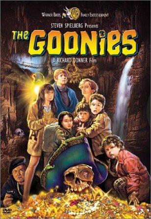 [PG] – 1985 – Richard Donner – Adventure, Comedy, Family Starring: Sean Astin, Josh Brolin, Jeff Cohen In order to save their home from foreclosure, a group of misfits set out to find a pirate's ancient treasure. Story by Steven Spielberg.