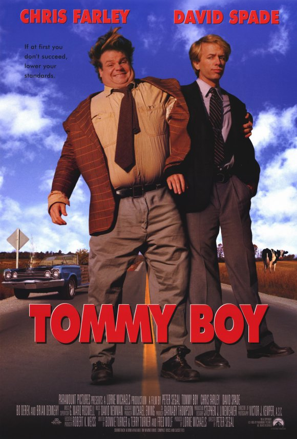 [PG-13] – 1995 – Peter Segal – Comedy Starring: Chris Farley, David Spade, Brian Dennehy An incompetent, immature, and dimwitted heir to an auto parts factory must save the business to keep it out of the hands of his new, con-artist relatives and big business.