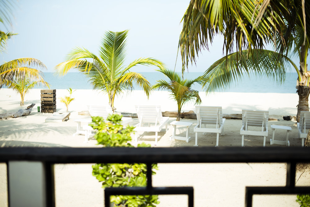 The view from Luna veranda...we have the prettiest, widest stretch of beach you will find, raked and cleaned daily