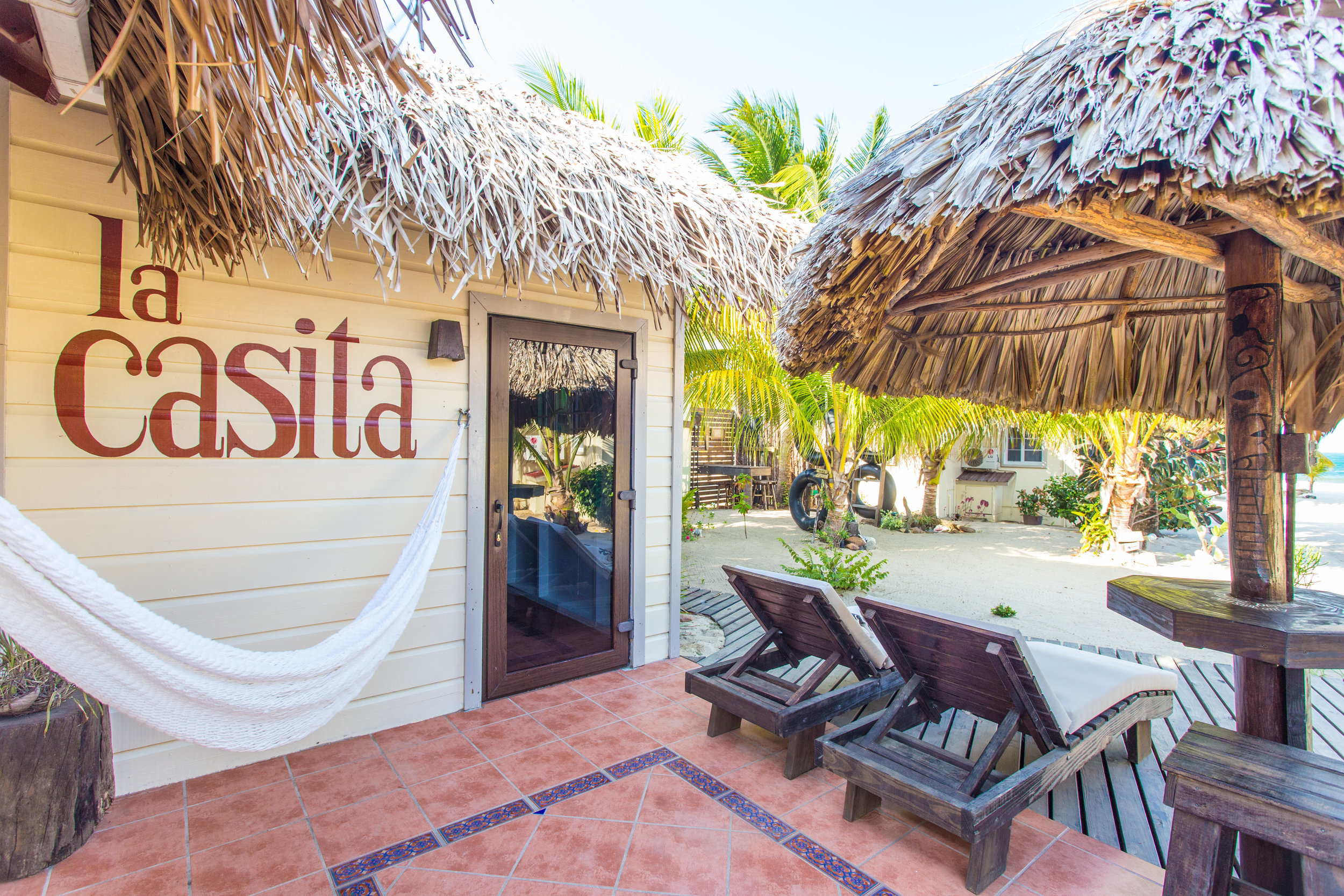 Enjoy your hammock overlooking the sea...or your coffee at your private palapa bar in the morning