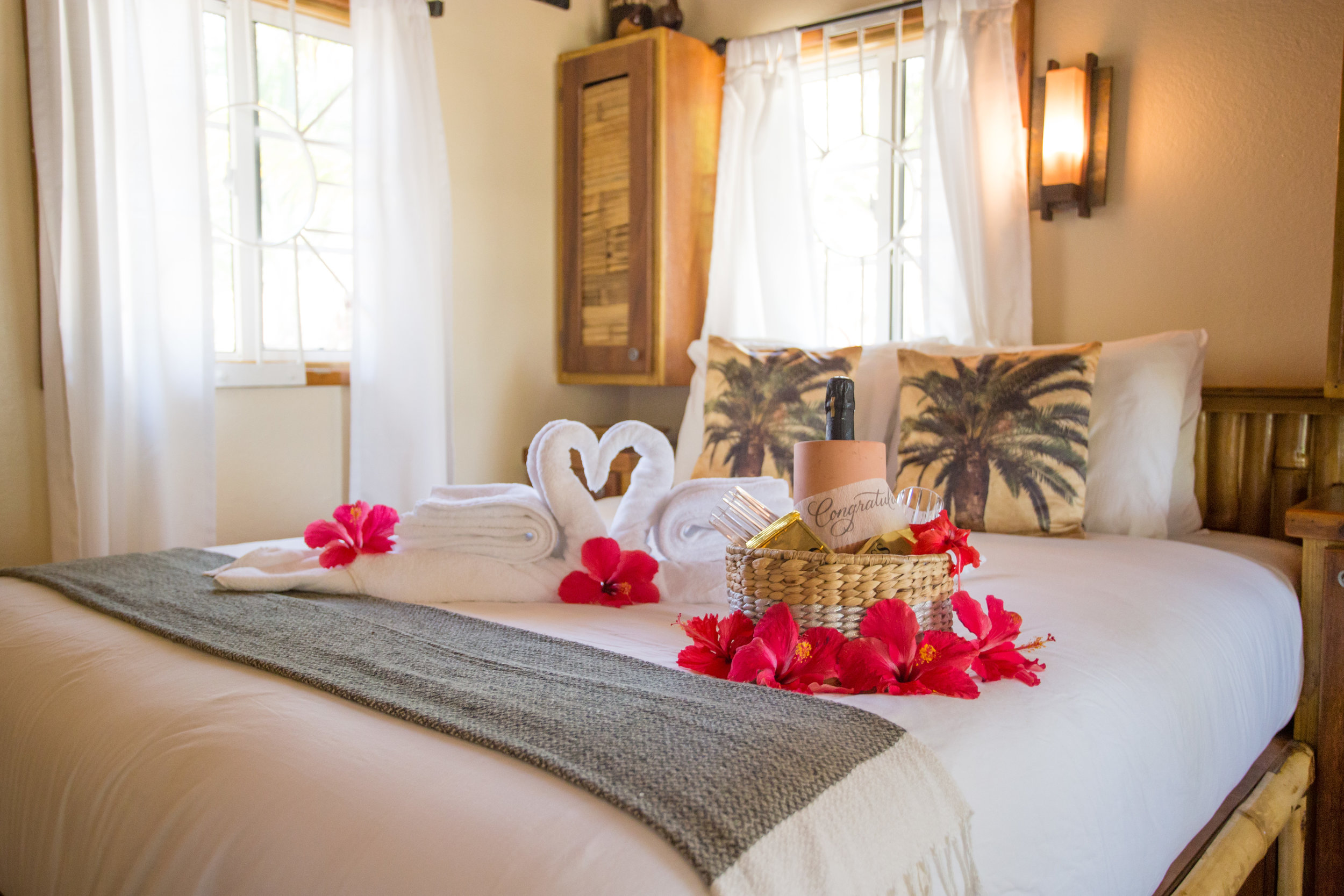 If you are here to celebrate a special occasion - let us know beforehand, and you can enter your suite to find this welcoming romance package! See the bottom of our amenities page for more information.
