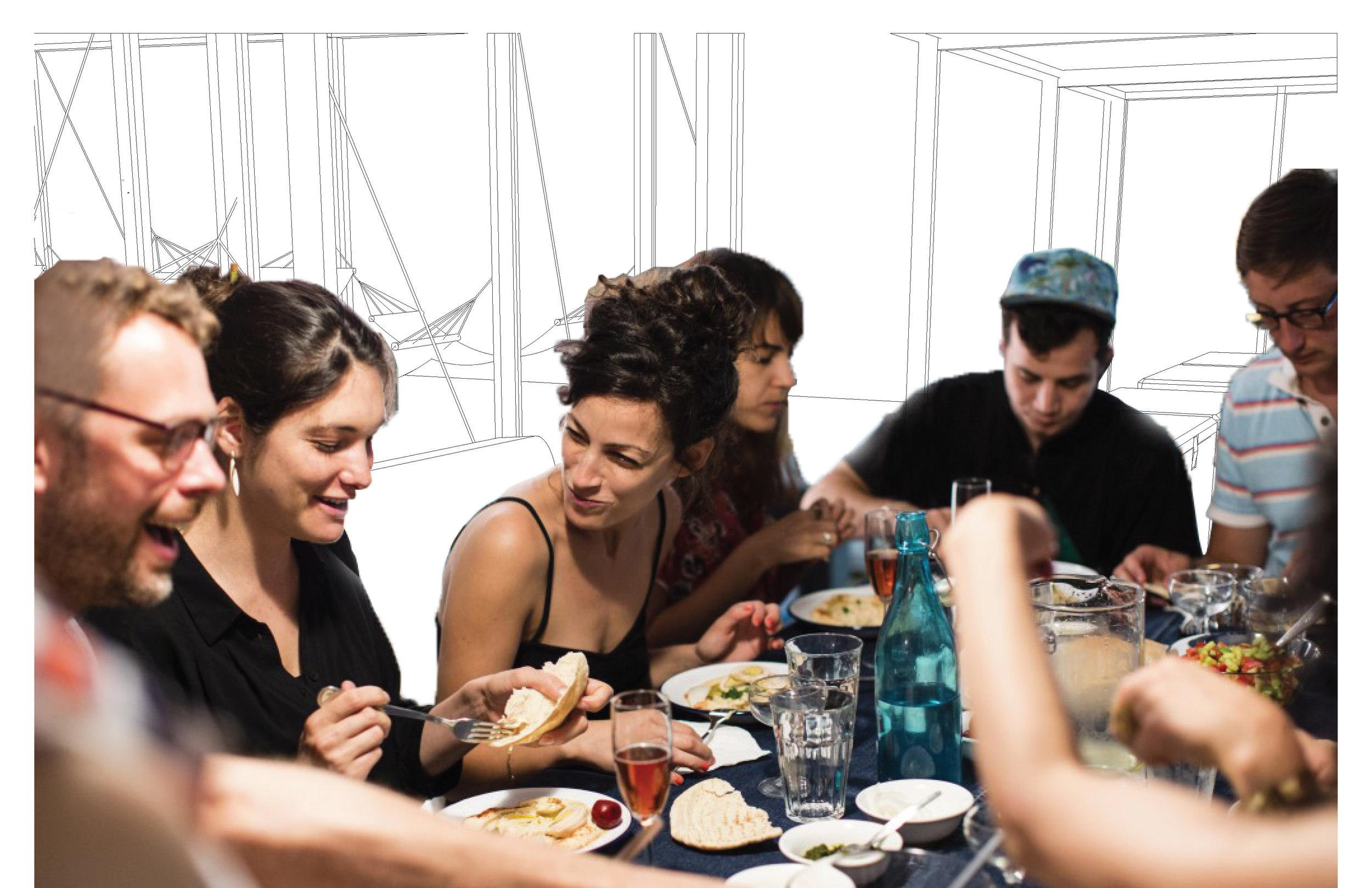 ...communal eating,...