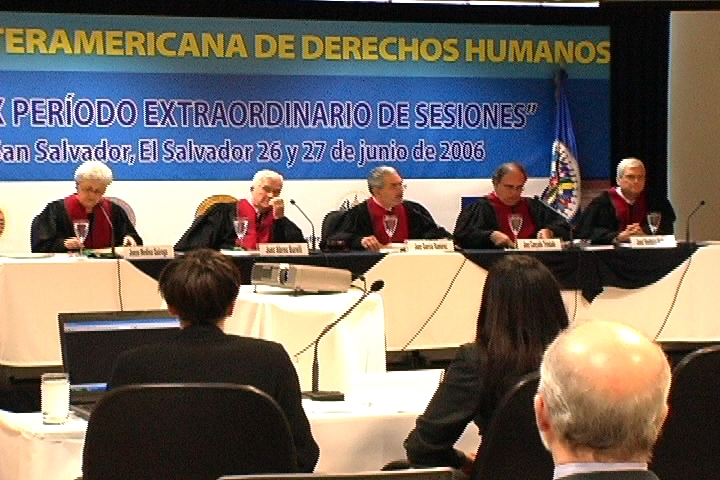 In Costa Rica, pleading a case of crimes against humanity before the Inter-American Court of Human Rights