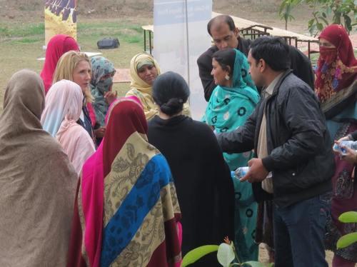 Interviewing Pakistani women in February 2014