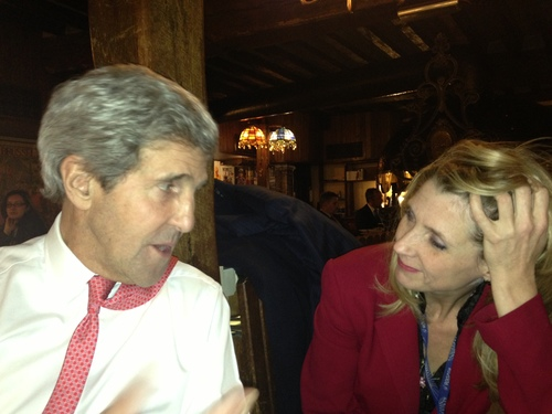Drinks with John Kerry in 2014