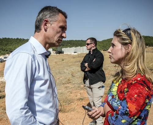 Interviewing NATO SecGen. Turkey-Syria border in October 2014