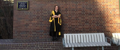 Graduating from King's College in January 2015