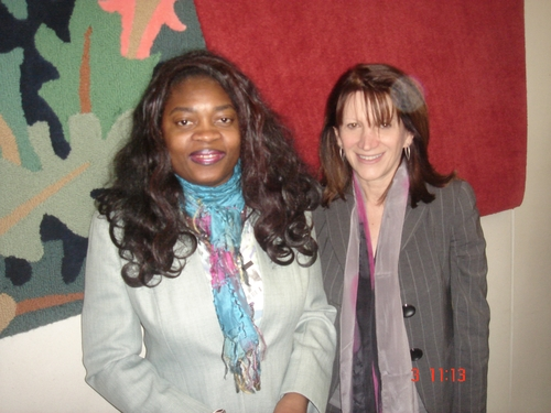 With Equalities Minister Lynn Featherstone MP in March 2011