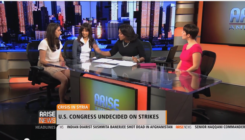 Appearance on Arise America, September 2013