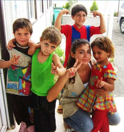 The first photo of Bathoul at the UNHCR in North Lebanon