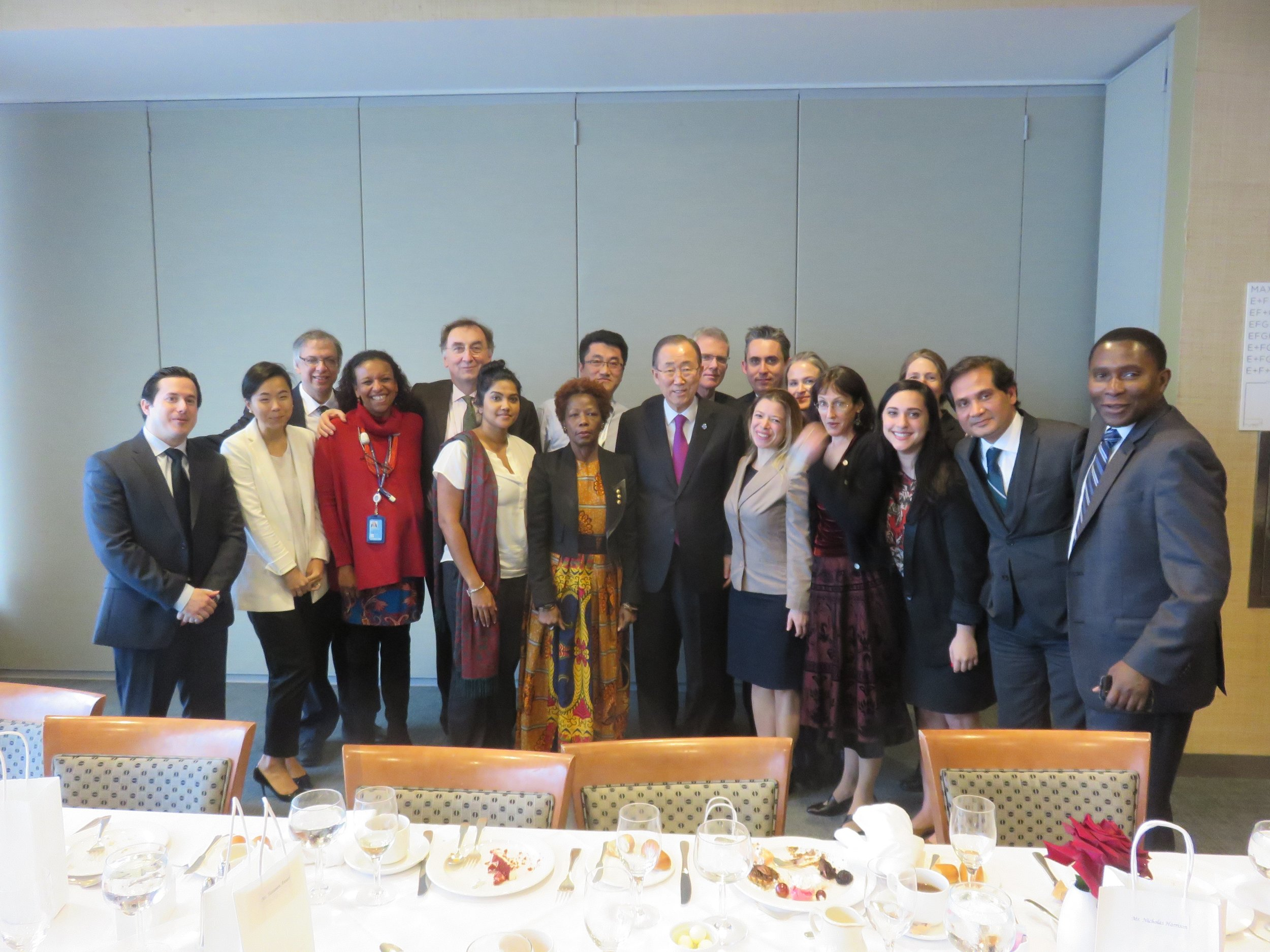 The UN Secretary-General's Climate Change Support Team, UN Headquarters, December 2016