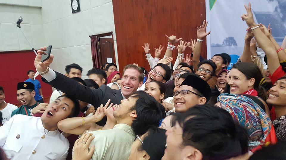 - YSEALI (Young Southeast Asian Leaders) Summit Selfie in Luang Prabang, Laos