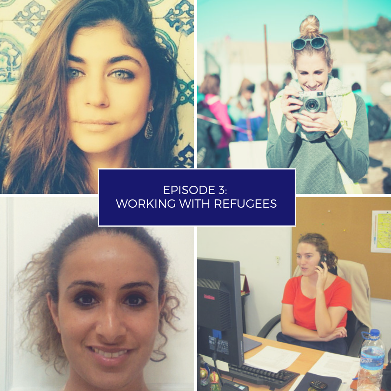Working with refugees career advice podcast