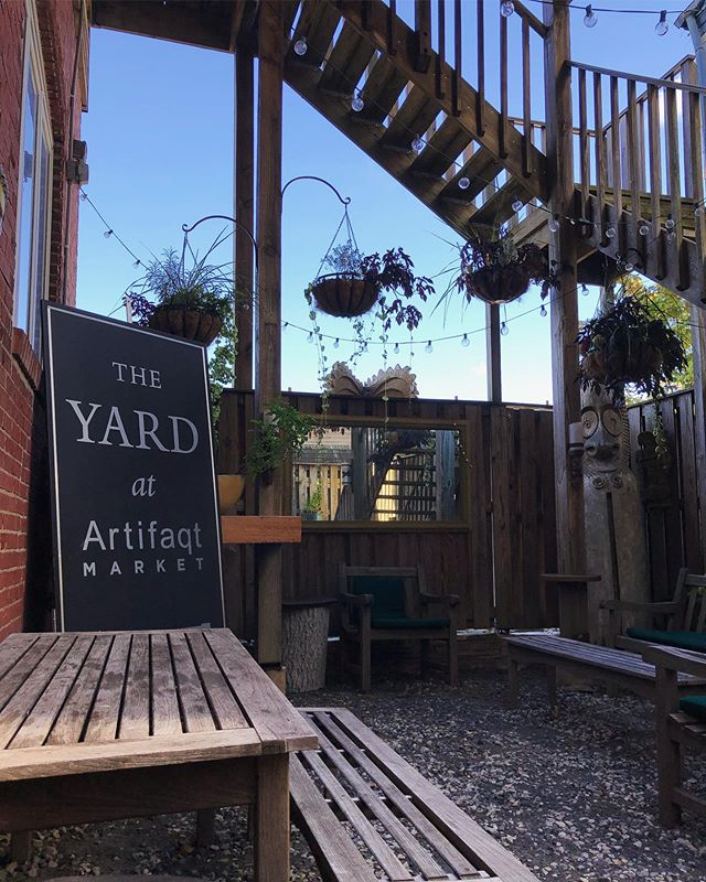 Until we get the official permit The Yard sign is chilling in The Yard. Come check it out this Friday 6-10pm. Should be a beautiful night! Swipe for menu