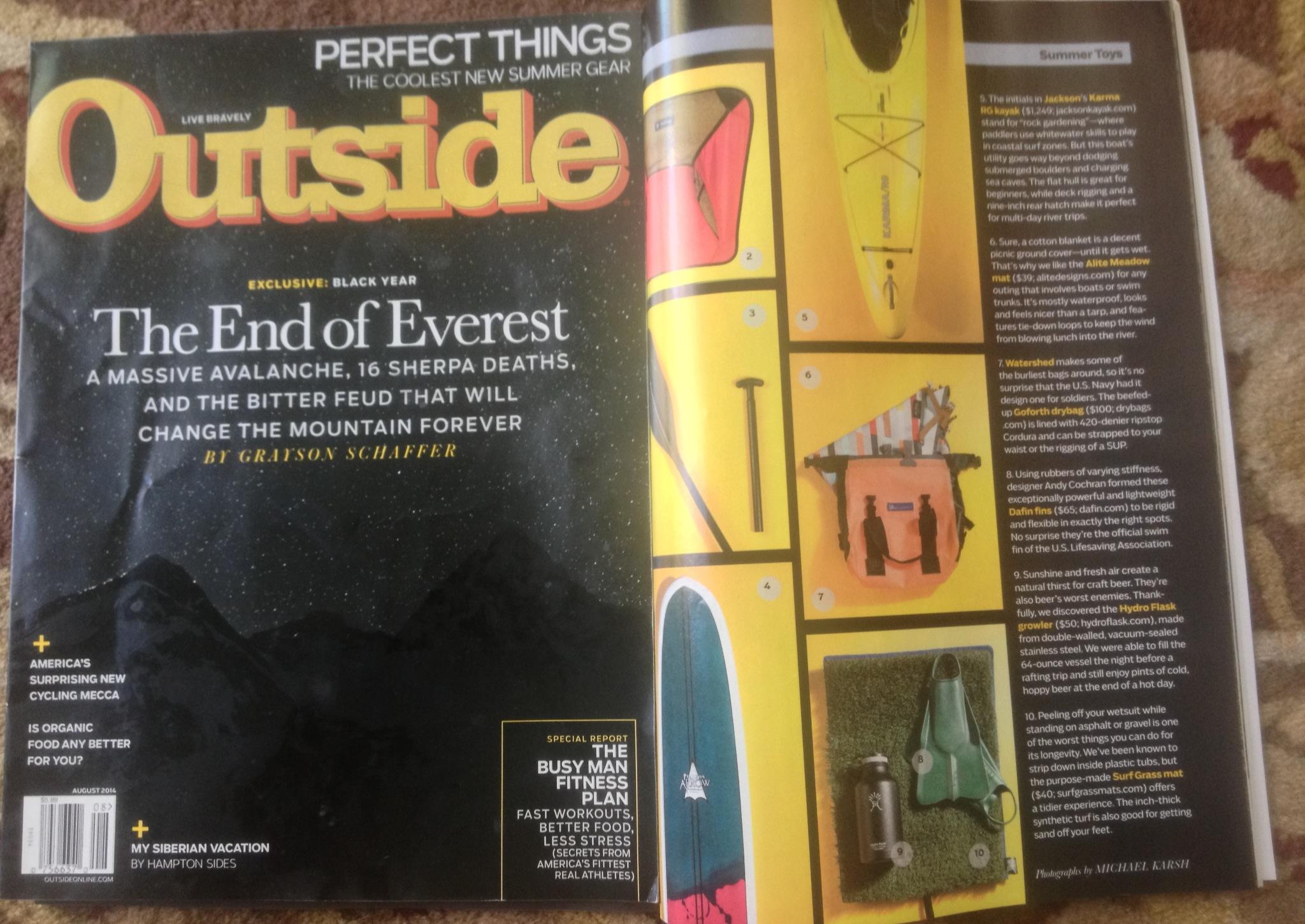 "Outside Magazine ""Summer Gear"""