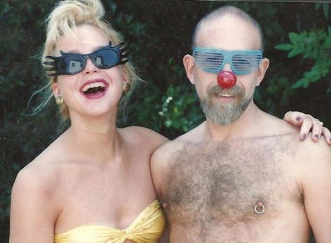 Gillian and her father, 1989