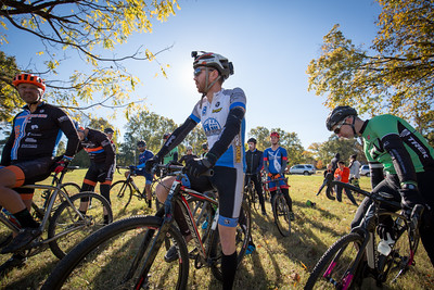 Cyclocross starting line