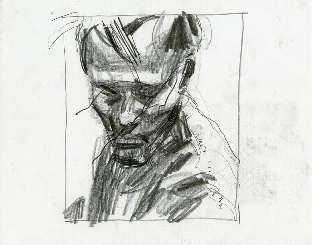 Untitled (Soldier),  pencil on paper, 11x14 in., 2013