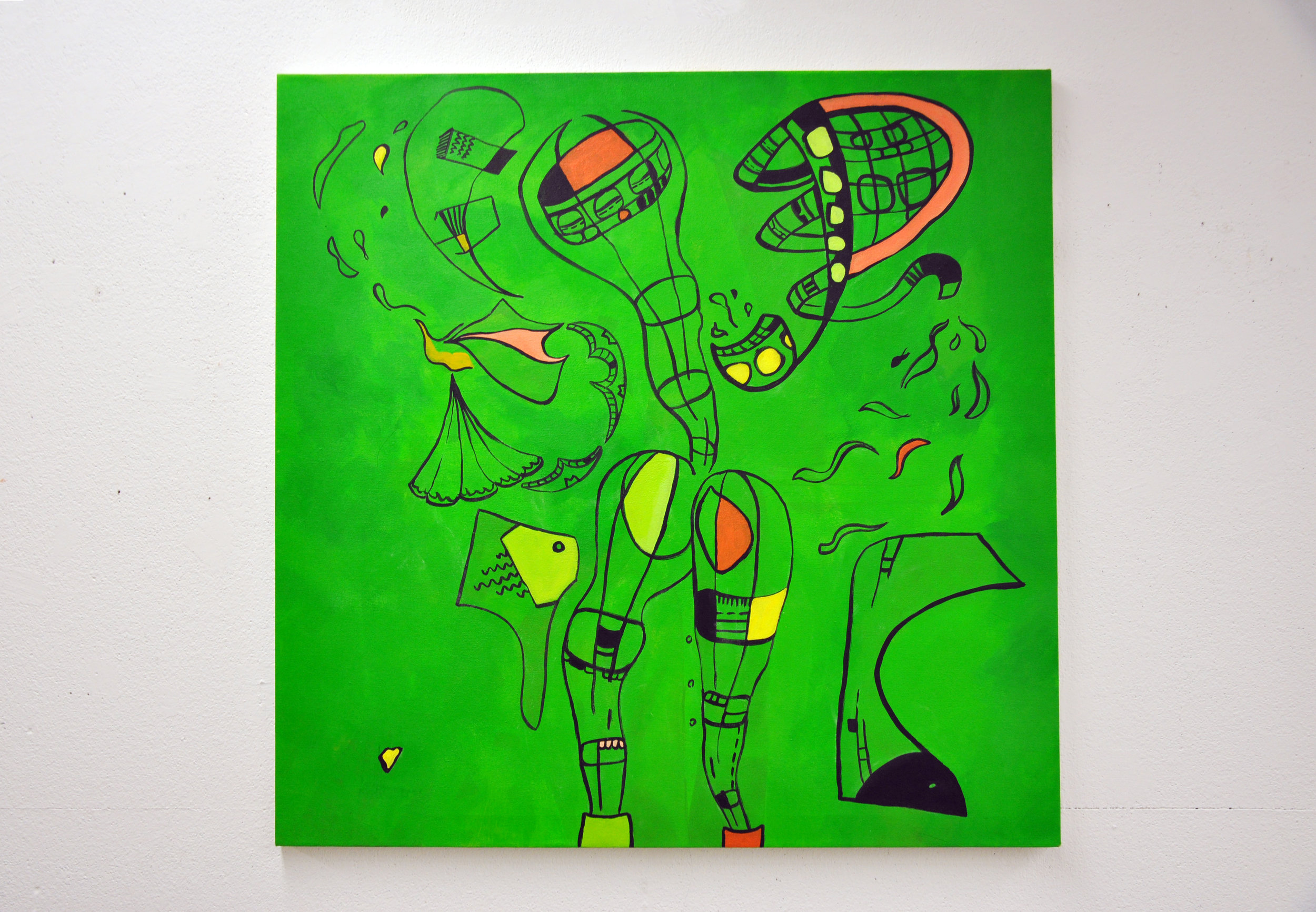 003 - Instantaneous3 ft. x 3 ft.Acrylic on CanvasNovember 2014