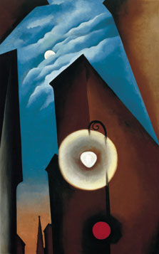 New York Street with Moon by Georgia O'Keeffe