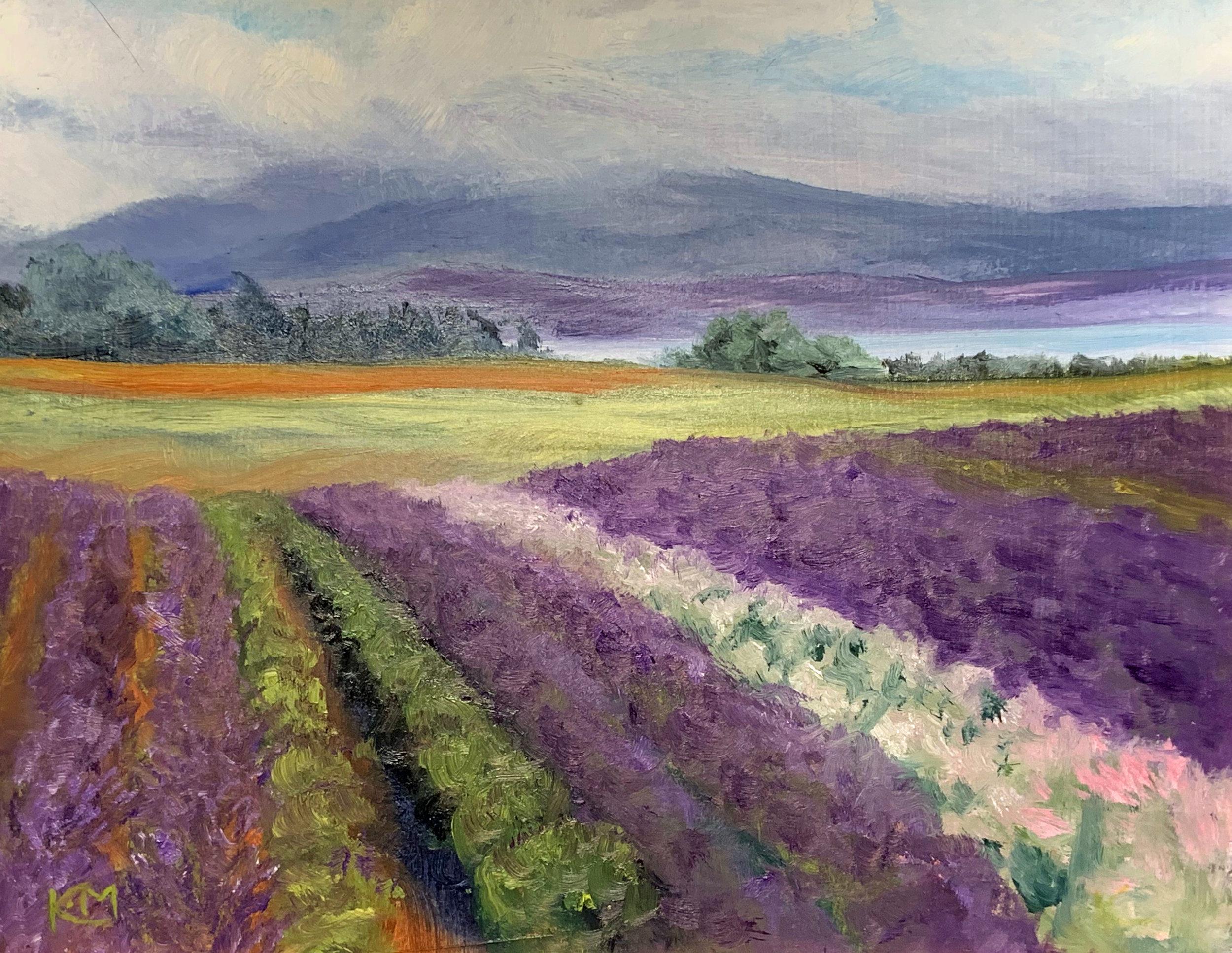 Lavender Morning Plein Air