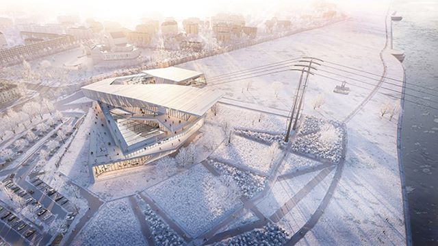 UNStudio designs the world's first cross-border cable car to connect Russia and China. www.architectureforfuture.com