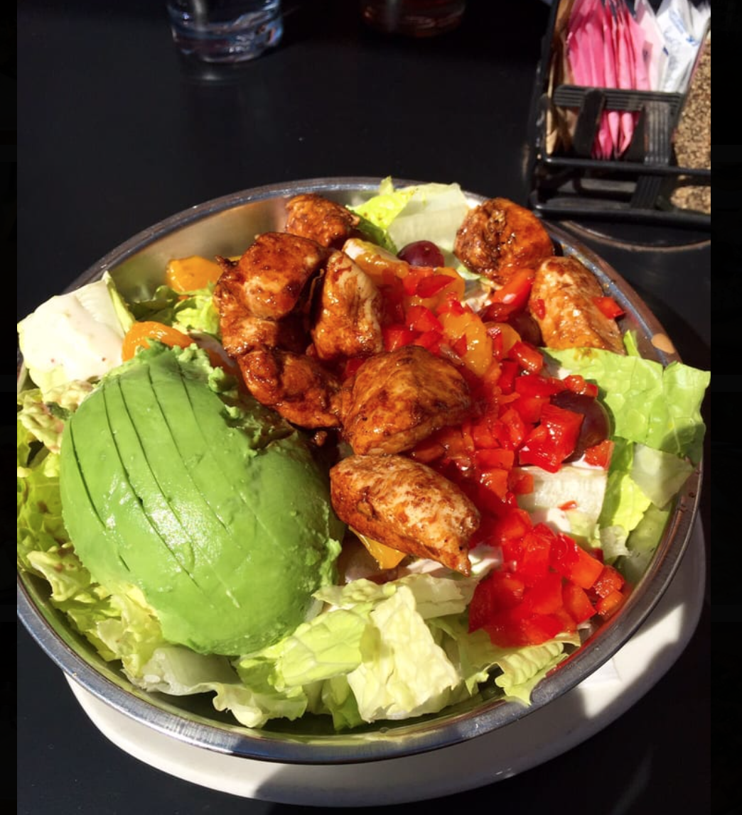 """The Original"" Silver Bowl Salad with Added Avocado - YUM! A State & Allen favorite."