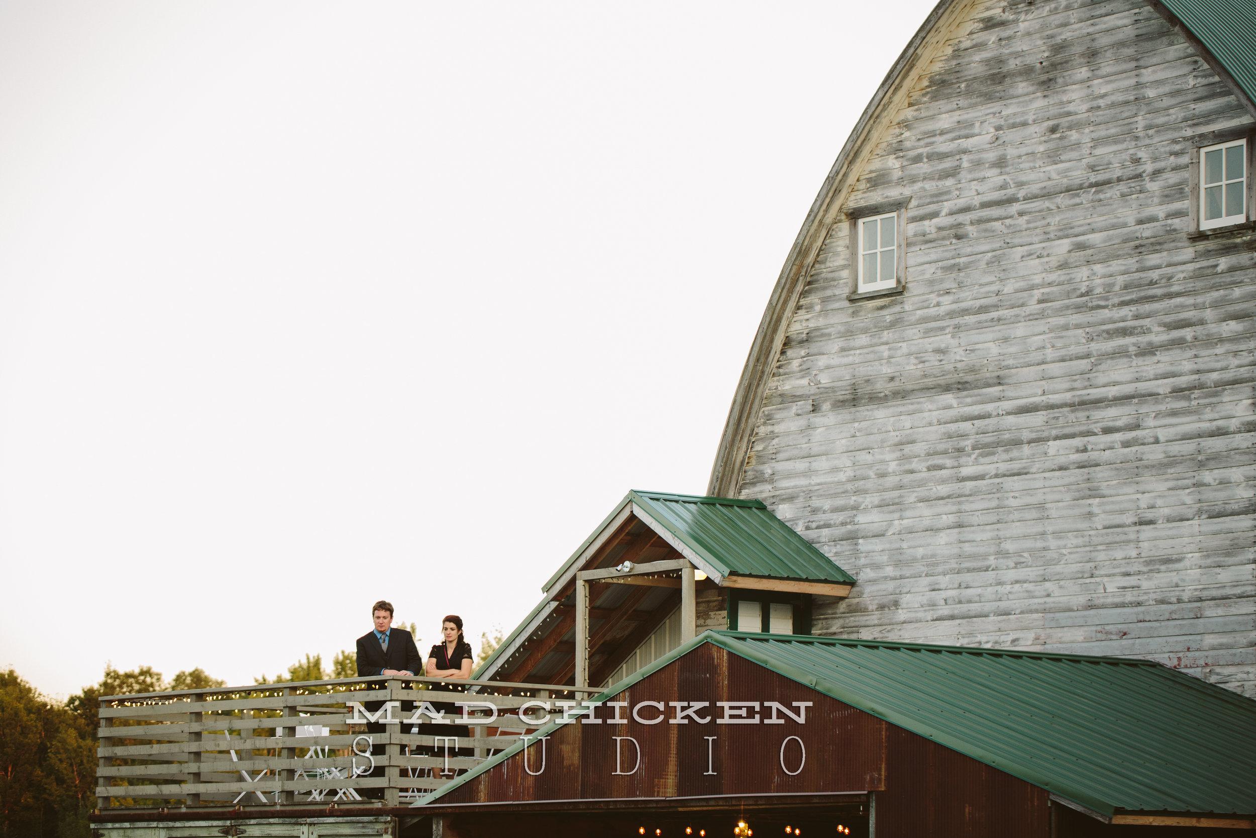 North side of barn/upper deck