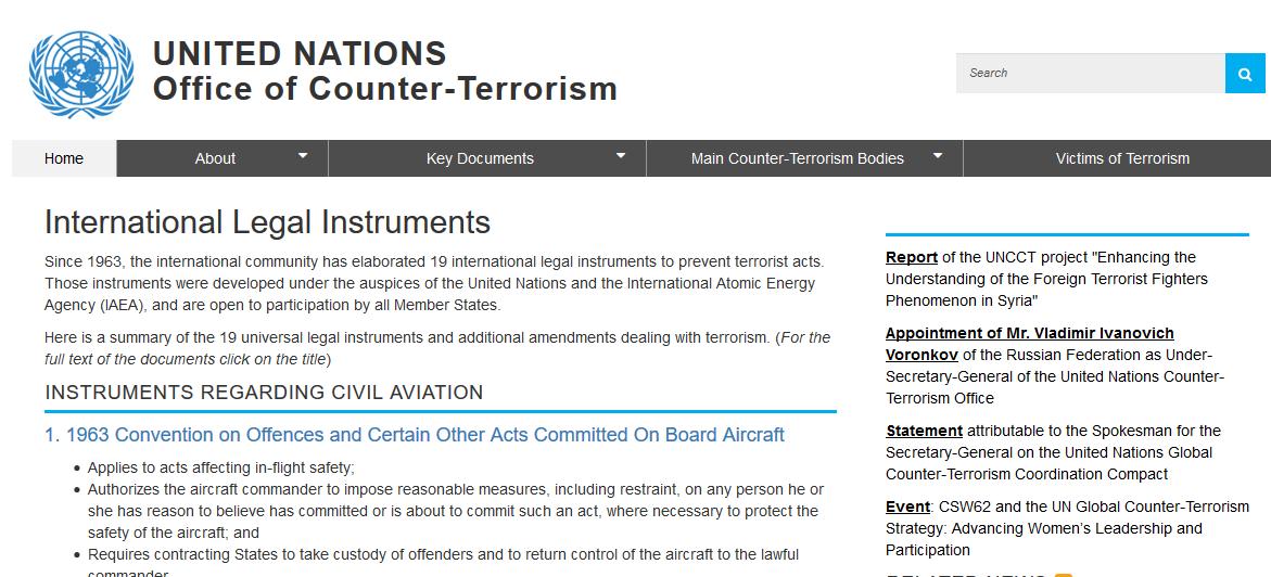 International Terrorism Treaties