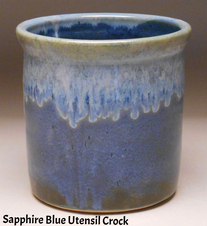 Sapphire Blue Utensil Crock