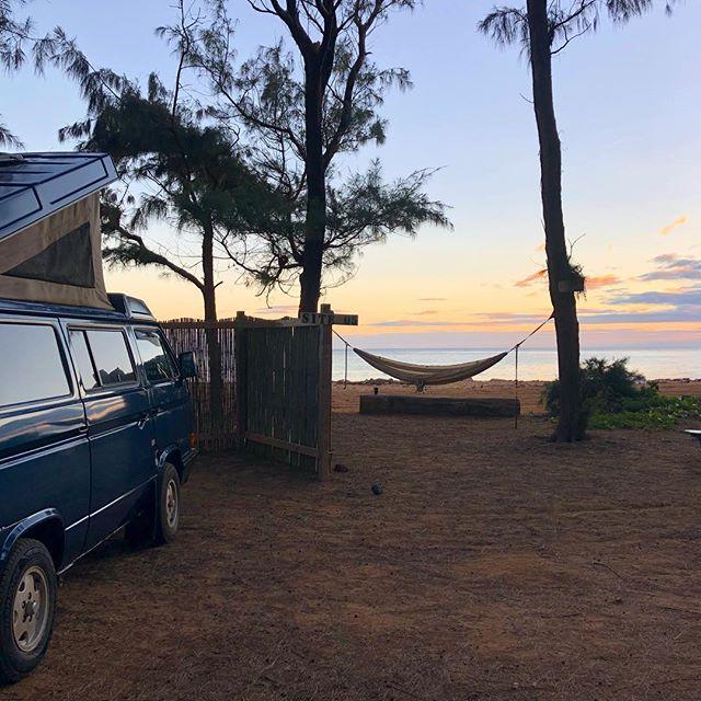 Life's a beach | Kauai 🤙 - #vw #westfalia #kauaicamper #travel #camping #outdoors #hourfun #kauai #anahola #latergram