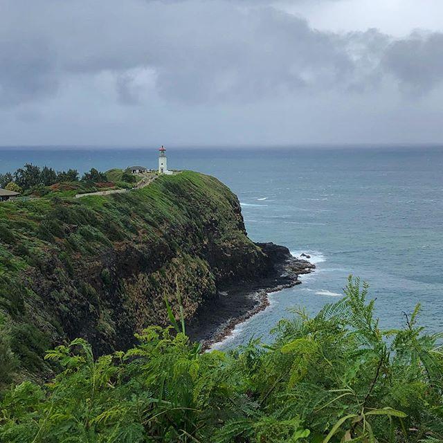 Kilauea Point Lighthouse | Kauai ⛰ - #itsgoingtorain #kauia #kilaueapoint #outside #hourfun #lighthouse #travel #latergram