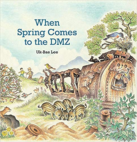 This unique picture book invites young readers    into the natural beauty of the DMZ, where salmon, spotted seals, and mountain goats freely follow the seasons and raise their families in this 2.5-mile-wide, 150-mile-long corridor where no human may tread. But the vivid seasonal flora and fauna are framed by ever-present rusty razor wire, warning signs, and locked gates―and regularly interrupted by military exercises that continue decades after a 1953 ceasefire in the Korean War established the DMZ.