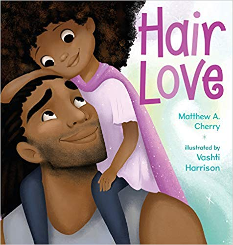 Zuri's hair has a mind of its own. It kinks, coils, and curls every which way. Zuri knows it's beautiful. When Daddy steps in to style it for an extra special occasion, he has a lot to learn. But he LOVES his Zuri, and he'll do anything to make her -- and her hair -- happy. Tender and empowering,  Hair Love  is an ode to loving your natural hair -- and a celebration of daddies and daughters everywhere.