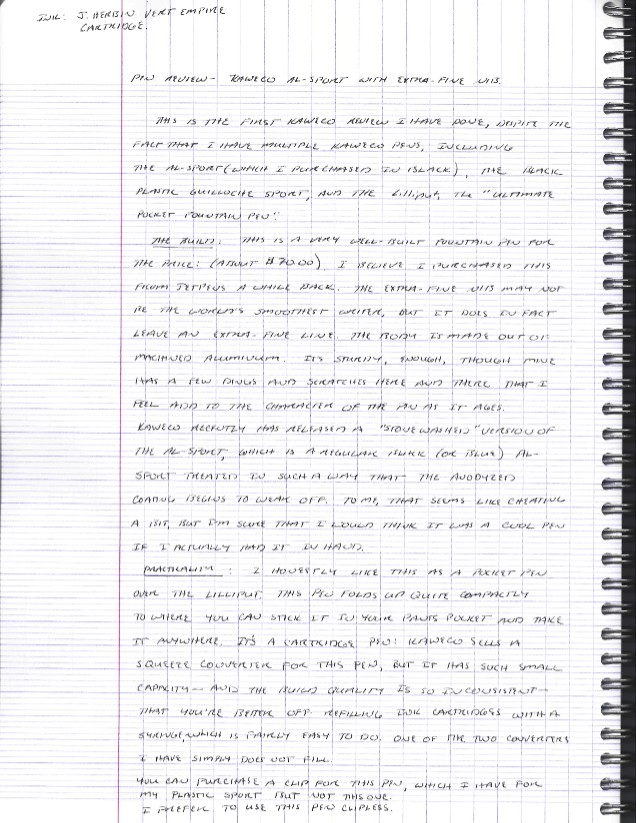Scan of Handwritten Review