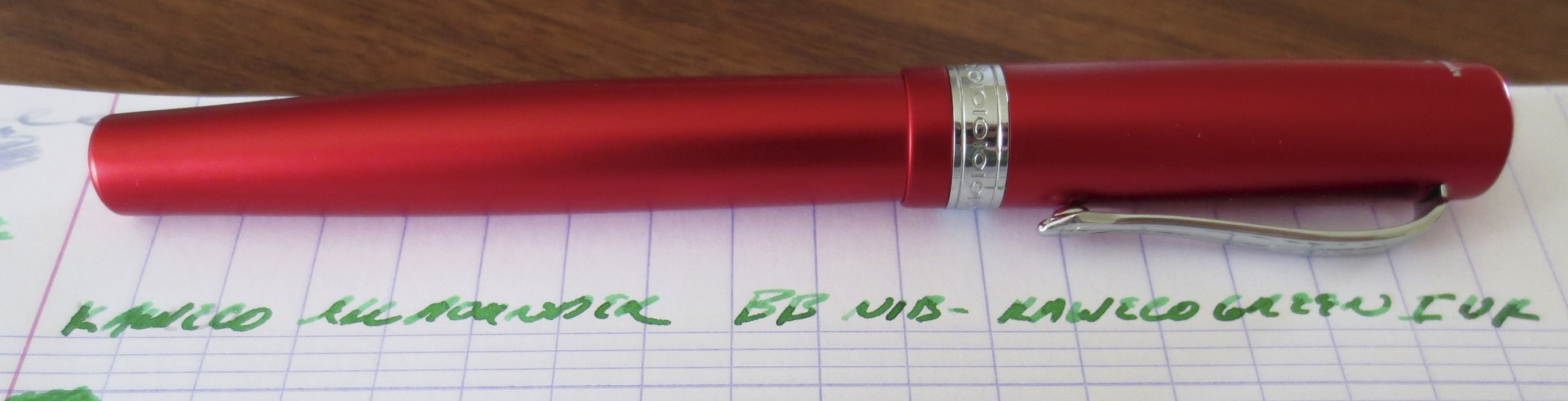 The Kaweco Allrounder is a gorgeous pen.  It's also solidly constructed from machined aluminum, with stainless trim.  I'm a sucker for red pens, so this one had me from the get-go.