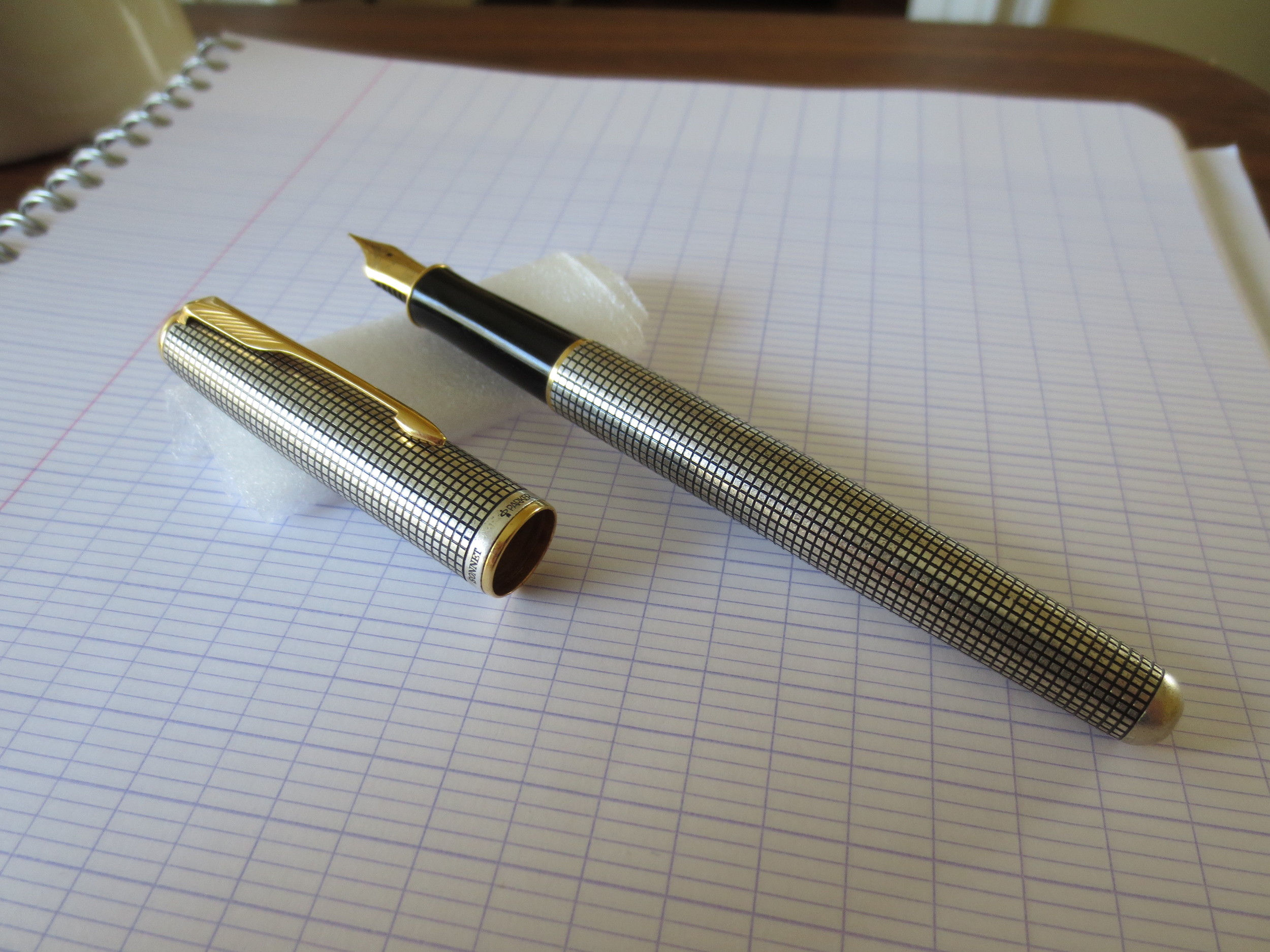 The pen has a black plastic grip section.  It's sturdy, and doesn't become overly slick during long writing sessions.