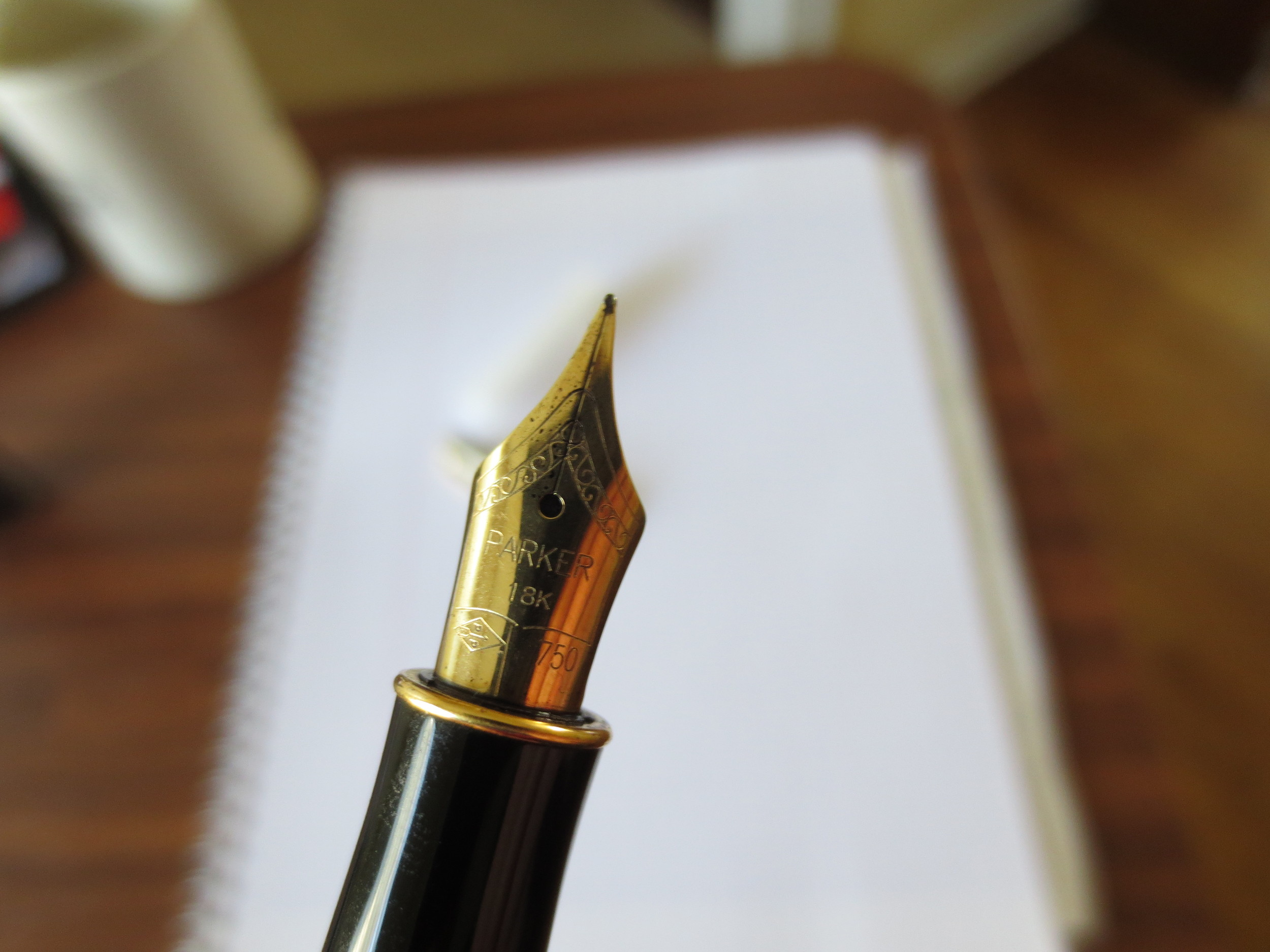 Parker's 18k Sonnet Nib is understated and generally an excellent writer, if a bit picky about what types of ink you use it with.