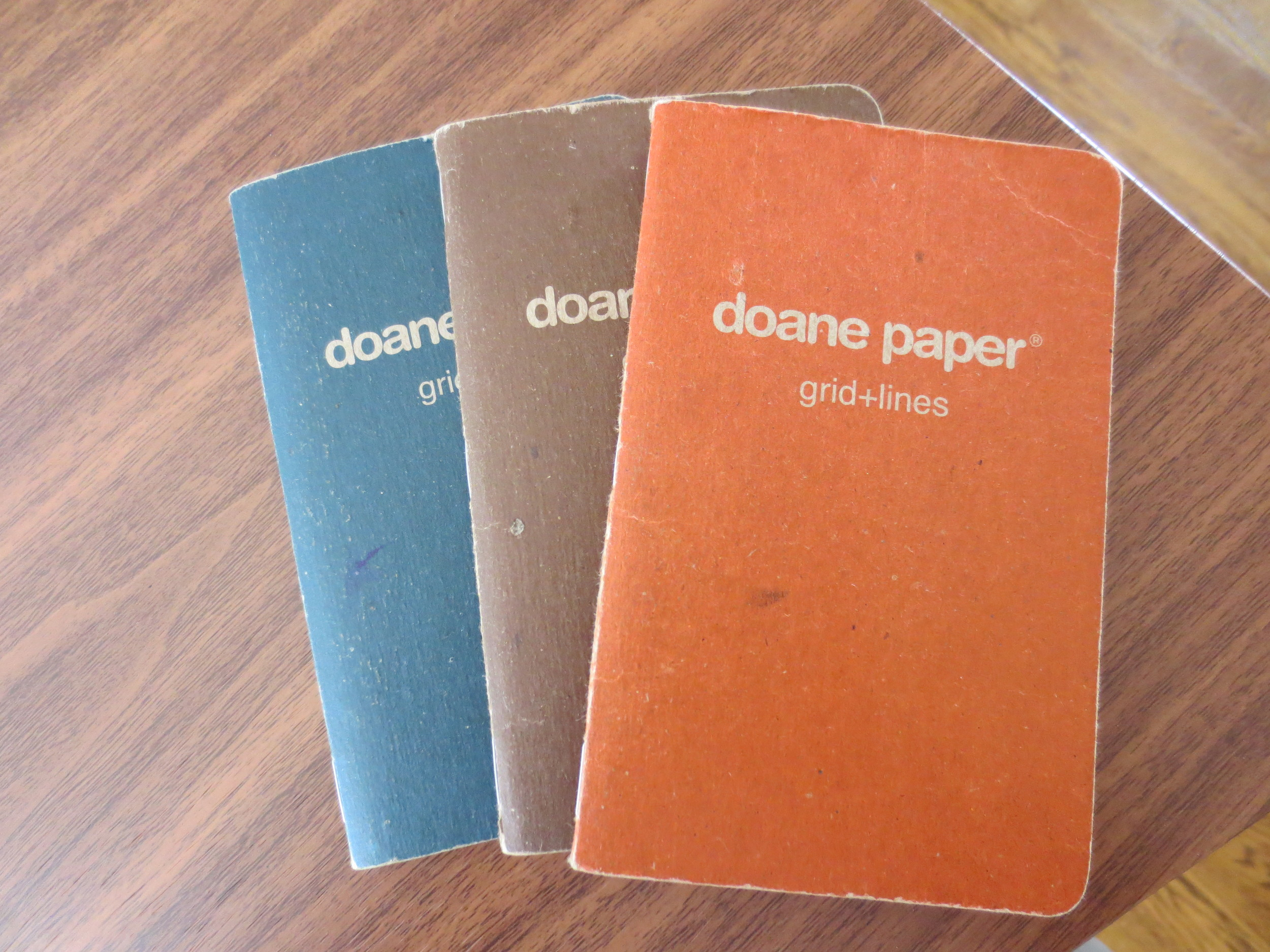 Doane Paper Utility Journal Garage Edition:  Finished the three-pack!  They look good worn out.