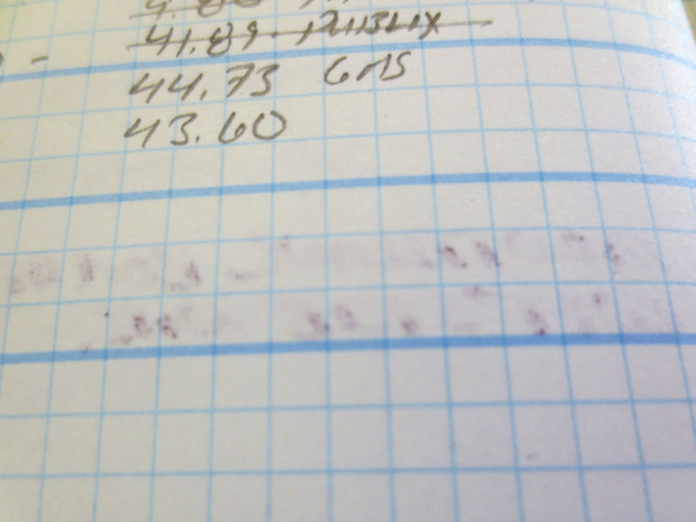 Some slight bleed-through with a very wet nib, but standard Field Notes paper would be much worse.