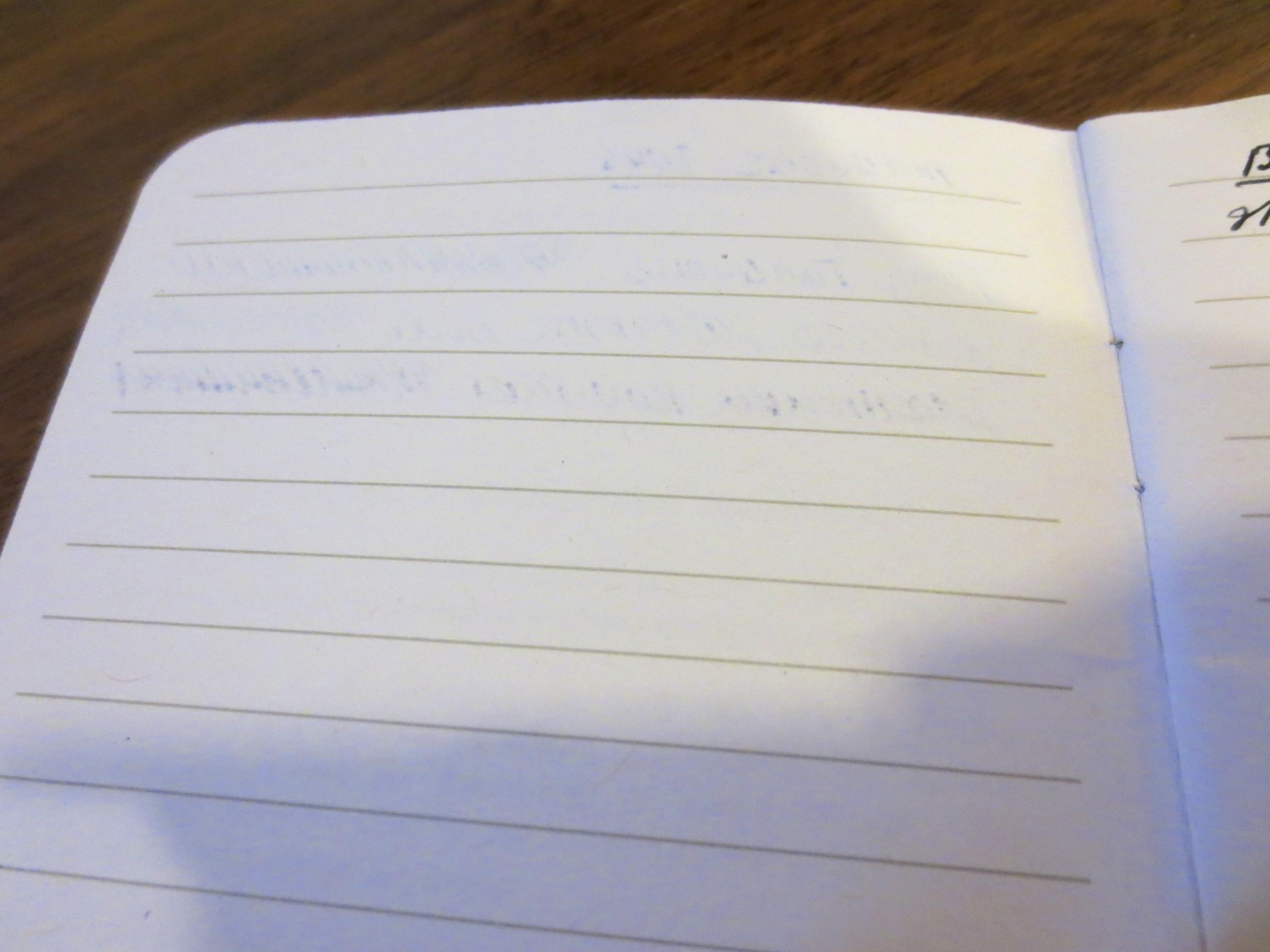 Flip Side of Writing Sample #1