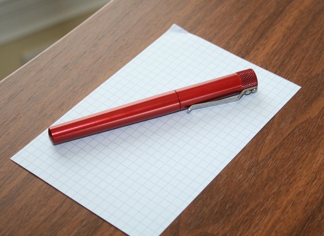 Karas Kustoms Render K (Hi-Tec-C Version) in red anodized aluminum.