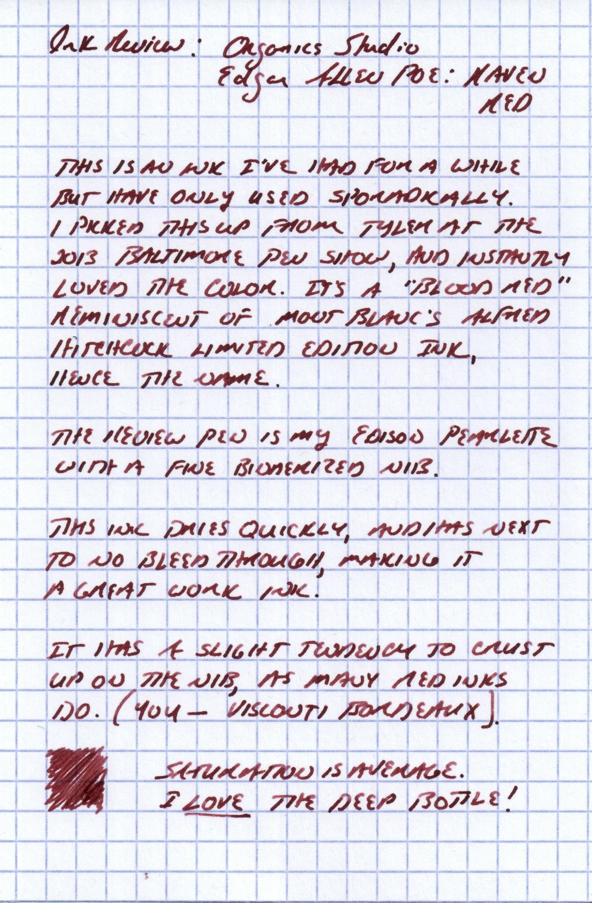 Raven Red Handwritten Review