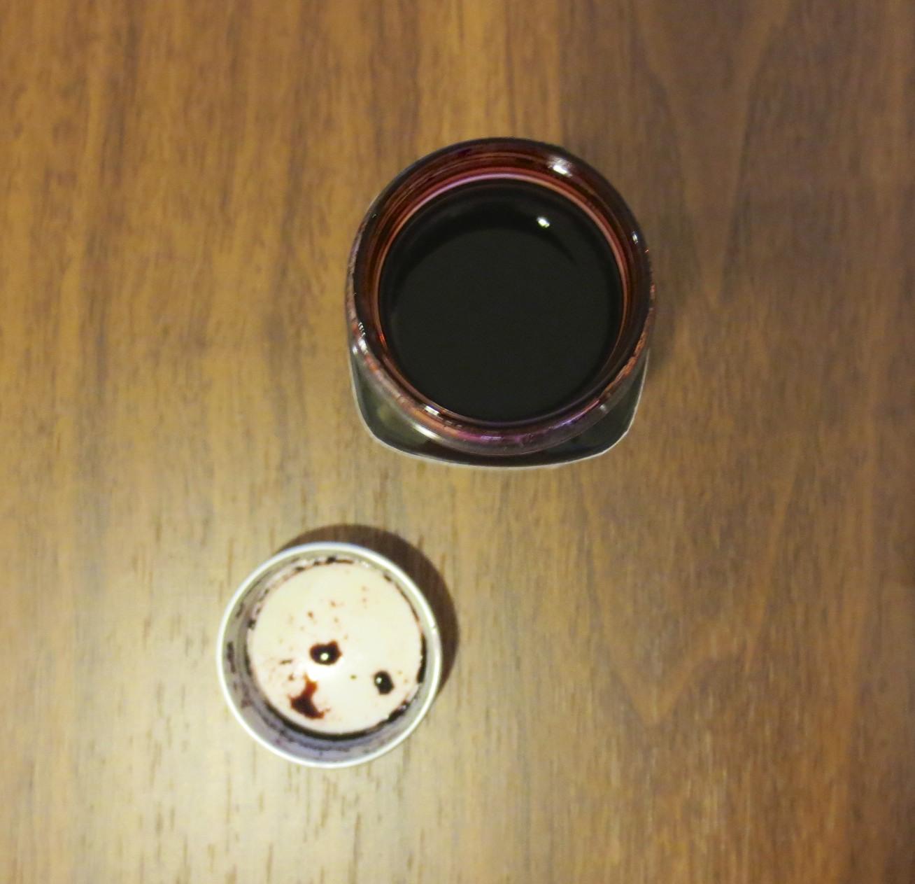 Edgar Allen Poe Raven Red Top View bottle